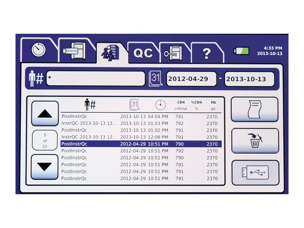 BD FACSPresto™ screen interface.